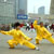 Tai chi beside Huangpu River and the Monument for People's Heroes